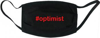 Masca protectie reutilizabila din material textil cu imprimeu and rdquo Optimist and rdquo neagra Masti chirurgicale si reutilizabile