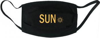 Masca protectie reutilizabila din material textil cu imprimeu and rdquo Sun and rdquo neagra Masti chirurgicale si reutilizabile