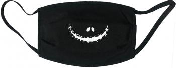 Masca protectie reutilizabila din material textil cu imprimeu and rdquo Zombie and rdquo neagra Masti chirurgicale si reutilizabile