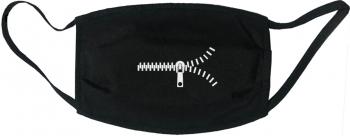 Masca protectie reutilizabila din material textil cu imprimeu Fermoar neagra Masti chirurgicale si reutilizabile