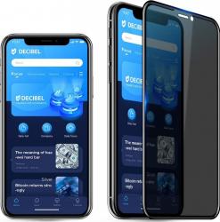 Folie de sticla 5D Apple iPhone 11 PRO Privacy Glass Elegance Luxury folie securizata duritate 9H