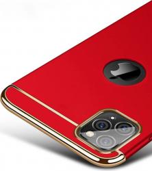 Husa Apple iPhone 11 PRO MAX Elegance Luxury 3in1 Rosu Huse Telefoane