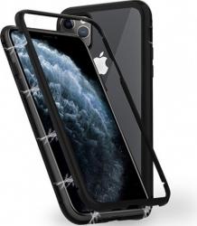 Husa Apple iPhone 11 PRO MAX Negru Perfect Fit cu spate de sticla securizata premium + folie de sticla gratis Huse Telefoane