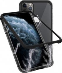 Husa Apple iPhone 11 PRO MAX Negru Perfect Fit cu spate de sticla securizata premium Huse Telefoane