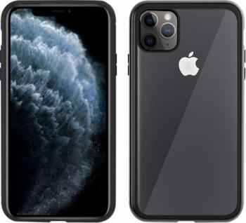 Husa Apple iPhone 11 PRO Negru Perfect Fit cu spate de sticla securizata premium + FOLIE DE STICLA GRATIS Huse Telefoane