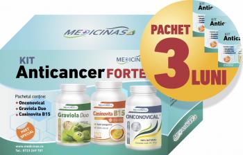 3 x Kit Anticancer Forte impotriva cancerului cu metastaze Medicinas+ gratuit cartea and rdquo Ce mananci ca sa combati cancerul and rdquo