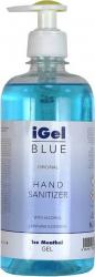 Gel Igienizant iGel pe baza de Alcool pentru Maini Antibacterian cu Pompita - 500ml Gel antibacterian