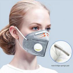Set 15 bucati Masca KN95 FFP2 6 straturi cu VALVA expiratie si filtru carbon activ Masti chirurgicale si reutilizabile
