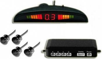 Set 4 senzori parcare afisaj si sunet Beep-Beep 12V Alarme auto si Senzori de parcare