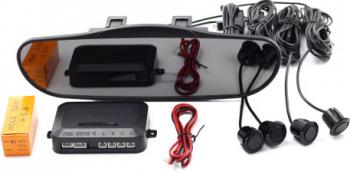 Set senzori de parcare cu afisaj in oglinda dimensiuni 21.5 cm raza de actiune 0-2m Alarme auto si Senzori de parcare