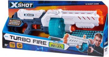 Arma de jucarie Xshot Turbo Fire 48 gloante 8 ani + Corturi si jucarii de exterior