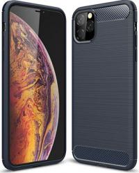 Husa de protectie cu insertii carbon pentru Iphone 11 Pro Max protectie spate bumper capac de protectie Bleumarin SHO1109 Huse Telefoane