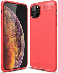 Husa de protectie cu insertii carbon pentru Iphone 11 Pro Max protectie spate bumper capac de protectie Rosu SHO1108 Huse Telefoane