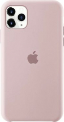 Husa protectie spate cu logo Apple pentru iPhone 11 Pro Max silicon Roz SHO1151 Huse Telefoane