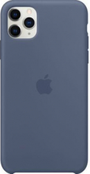 Husa protectie spate cu logo Apple pentru iPhone 11 Pro silicon Albastru SHO1142 Huse Telefoane