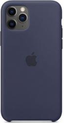 Husa protectie spate cu logo Apple pentru iPhone 11 Pro silicon Bleumarin SHO1141 Huse Telefoane