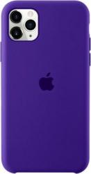Husa protectie spate cu logo Apple pentru iPhone 11 Pro silicon Mov SHO1147 Huse Telefoane