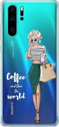 Husa telefon Huawei P30 Pro Coffee and then the world