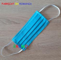 Masca de protectie reutilizabila turquoise din bumbac Masti chirurgicale si reutilizabile