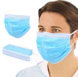 Cutie 50 Masti Protectie din 3 straturi filtrare bacteriana Masti chirurgicale si reutilizabile