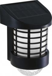 Lampa solara LED de perete alb rece plastic ABS panou solar 2V 100 mA 200 mAh 195 x 120 x 100 mm negru Corpuri de iluminat