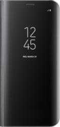 Husa Flip Stand Clear View Huawei P30 Black Huse Telefoane