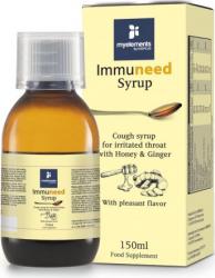 Sirop pentru Gat Iritat cu Miere si Ghimbir Immuneed Myelements 150ml