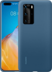 Husa de protectie Huawei originala pentru Huawei P40 Pro soft silicon capac de protectie albastru SHO1562