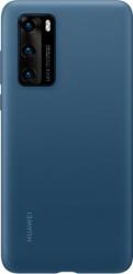 Husa de protectie Huawei originala pentru Huawei P40 soft silicon capac de protectie albastru SHO1561