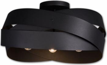 Lustra plafon 3x40w TORNADO negru Lis Poland Corpuri de iluminat