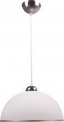 Lustra tip pendul Deca 1x60w abajur sticla alb Corpuri de iluminat