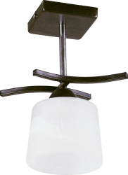 Lustra tip pendul Osaka E27 x 1x 60w wenge+crom abajur sticla alb Corpuri de iluminat