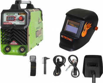 Set Invertor sudura MMA Procraft AWH-300T 300A Semi-Profesional Diametru electrozi 1.6-4mm + Masca STROMO SX5000B Cameleon Cristale