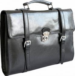 Geanta rucsac dama pentru laptop din piele naturala neagra DS149 Genti de dama