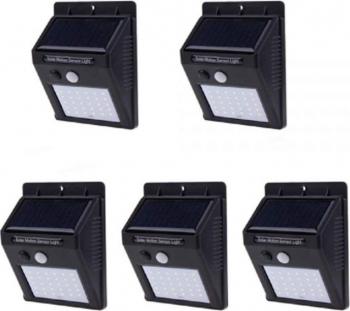 Set 5 lampi solare cu senzor de miscare 30 LED-uri Corpuri de iluminat