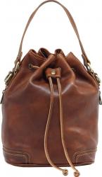 Geanta sac dama din piele naturala vachetta coniac G134A Genti de dama