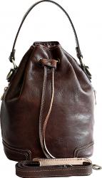 Geanta sac dama din piele naturala vachetta maro GD134B Genti de dama
