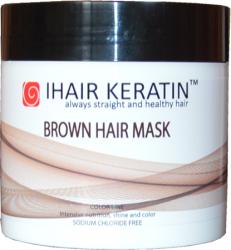 Masca coloranta ciocolatie pentru par 500 ml Ihair Keratin Masti, exfoliant, tonice