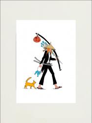 Poster Fata Samurai de Viorel Moraru editie limitata 40X60cm Obiecte de arta