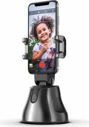 Suport smart portabil pentru telefoane mobile cu detectare faciala si rotire 360 de grade Gimbal, Selfie Stick si lentile telefon