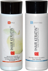 Tratament keratina Apple kit 100ml Ihair Keratin Masti, exfoliant, tonice
