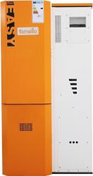 Centrala pe peleti Fornello Simpell Easy 25 kw arzator inox sistem curatare arzator pompa de circulatie tiraj fortat 80 mm buncar 153