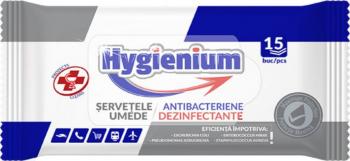 Hygienium servetele umede dezinfectante si antibacteriene 15 bucati Gel antibacterian