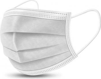 Set 50 masti chirurgicale medicale tip II polipropilena alb 3 straturi 3 pliuri Masti chirurgicale si reutilizabile