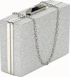 Geanta clutch argintie Eliza