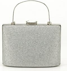 Geanta clutch argintie Lavinia