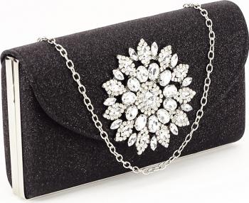Geanta clutch negru elegant Bella