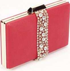 Geanta clutch rosu Olympia