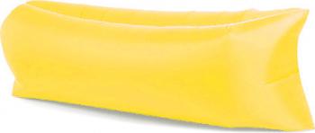 Saltea Gonflabila Lazy Bag XXL pentru Plaja sau Piscina Umflare fara Pompa cu Geanta Depozitare culoare Galben