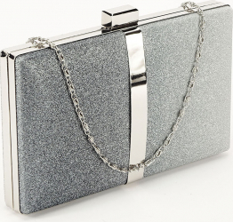 Geanta clutch argintie Bianca